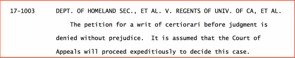 SCOTUS decision DACA