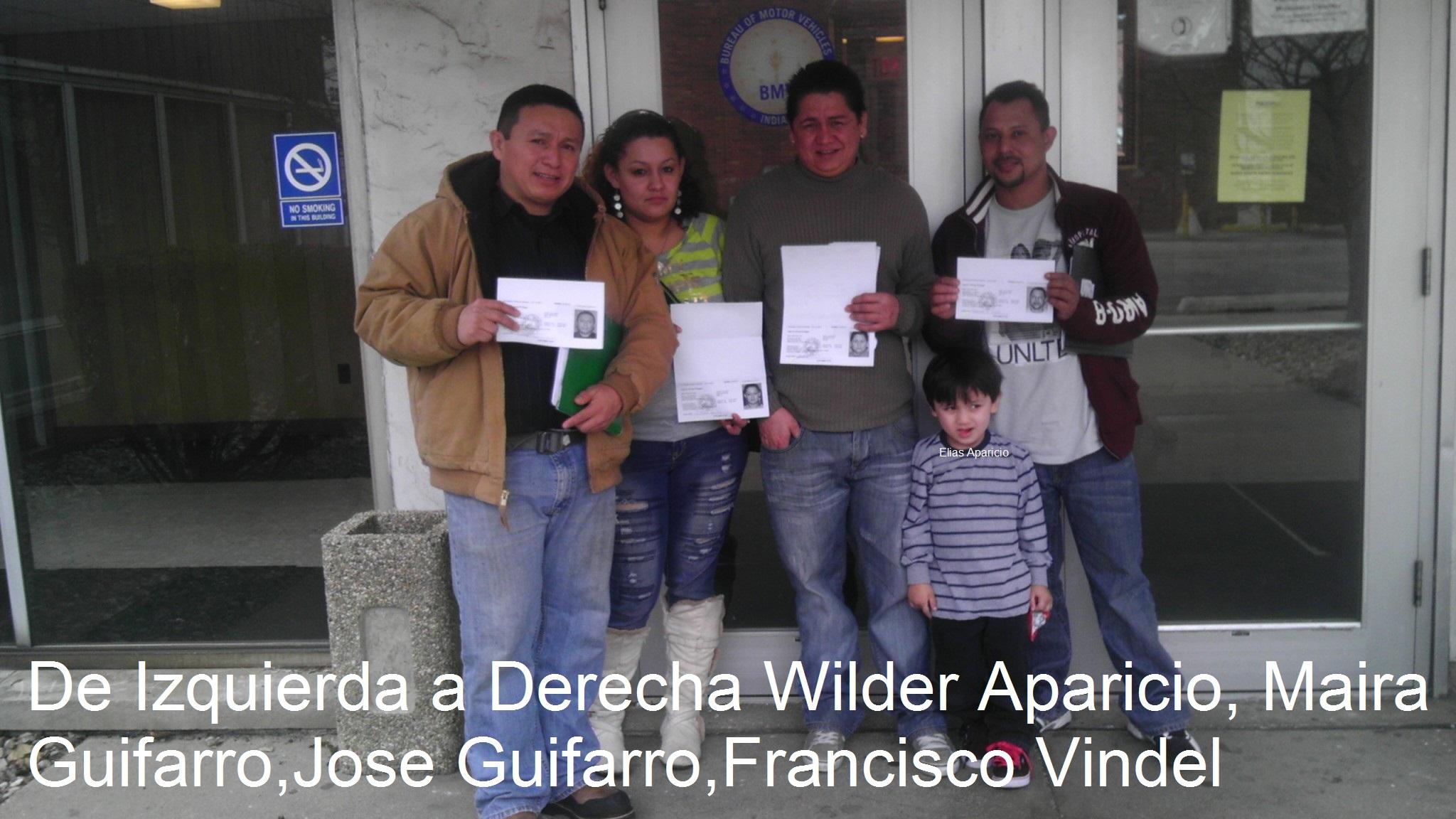 Wilder Aparicio y grupo TPS licencia conducir Indiana